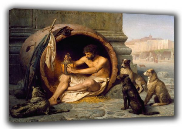 Gerome, Jean Leon: Diogenes. Fine Art Canvas. Sizes: A3/A2/A1. (002839)